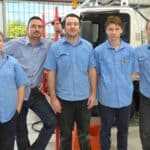 SEVA Engineering Manager Steve Harper (second from left) with EPIC job seekers Tracy, Nick, Korey and Levi