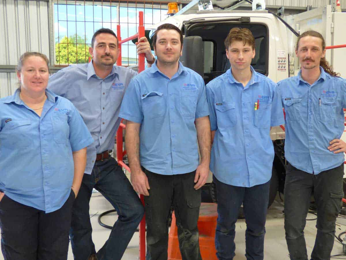 SEVA Engineering Manager Steve Harper with EPIC job seekers Tracy, Nick, Korey and Levi