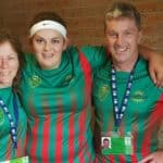 Team Manager Lorna Wilson, player Mel Phillips and Coach Steve Ockerby