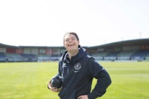 Dan on the football field at Carlton Rugby Club