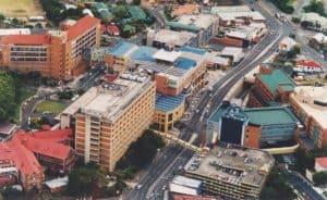 Ariel shot of South Brisbane