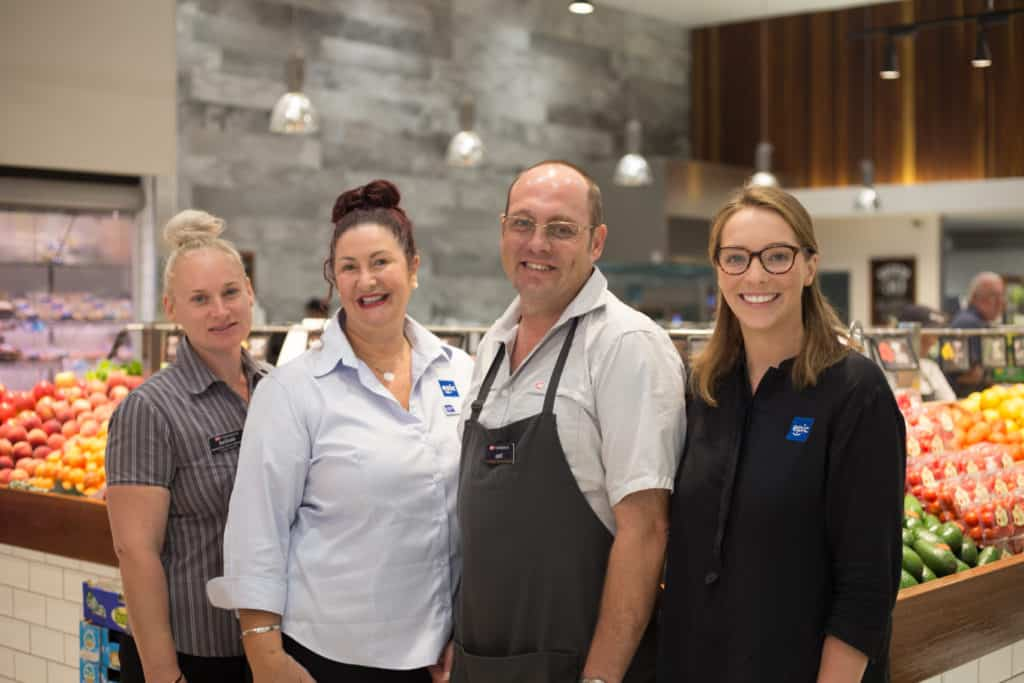IGA Store Manager Belinda, EPIC employment consultant Sonia, EPIC employee Carl and EPIC staff member Anna