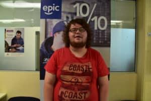 Luke standing at EPIC