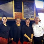 Staff at Christmas Hills Raspberry Farm Café, with employee and EPIC participant Matt and EPIC CEO Bill Gamack.