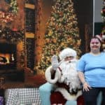 Santa with EPIC participant Jolleen