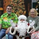 Santa with Glenn and Diane