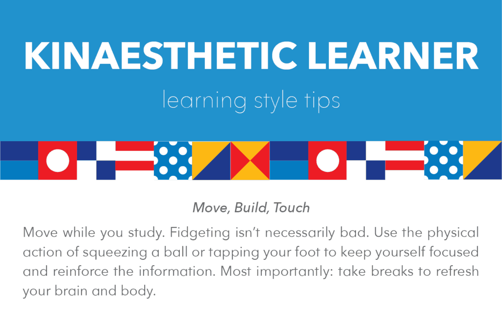 kinaesthetic learning style tips and tricks: move, build, touch