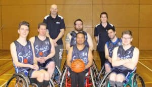Saints wheelchair basketball team are a recipient of one of EPIC's community grants