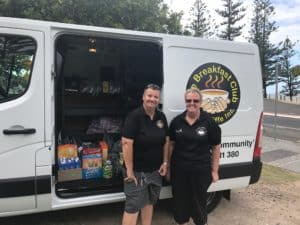 Community Grant recipients, The Breakfast Club, out in the community with their outreach van