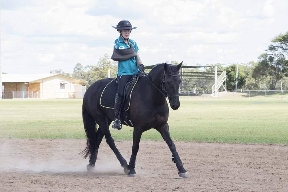 Para-Equestrian Dressage rider Annika Croaker